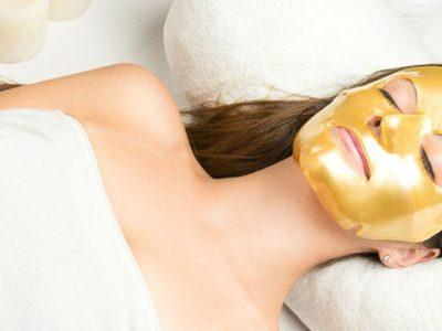 Goudmasker - schoonheidsbehandeling