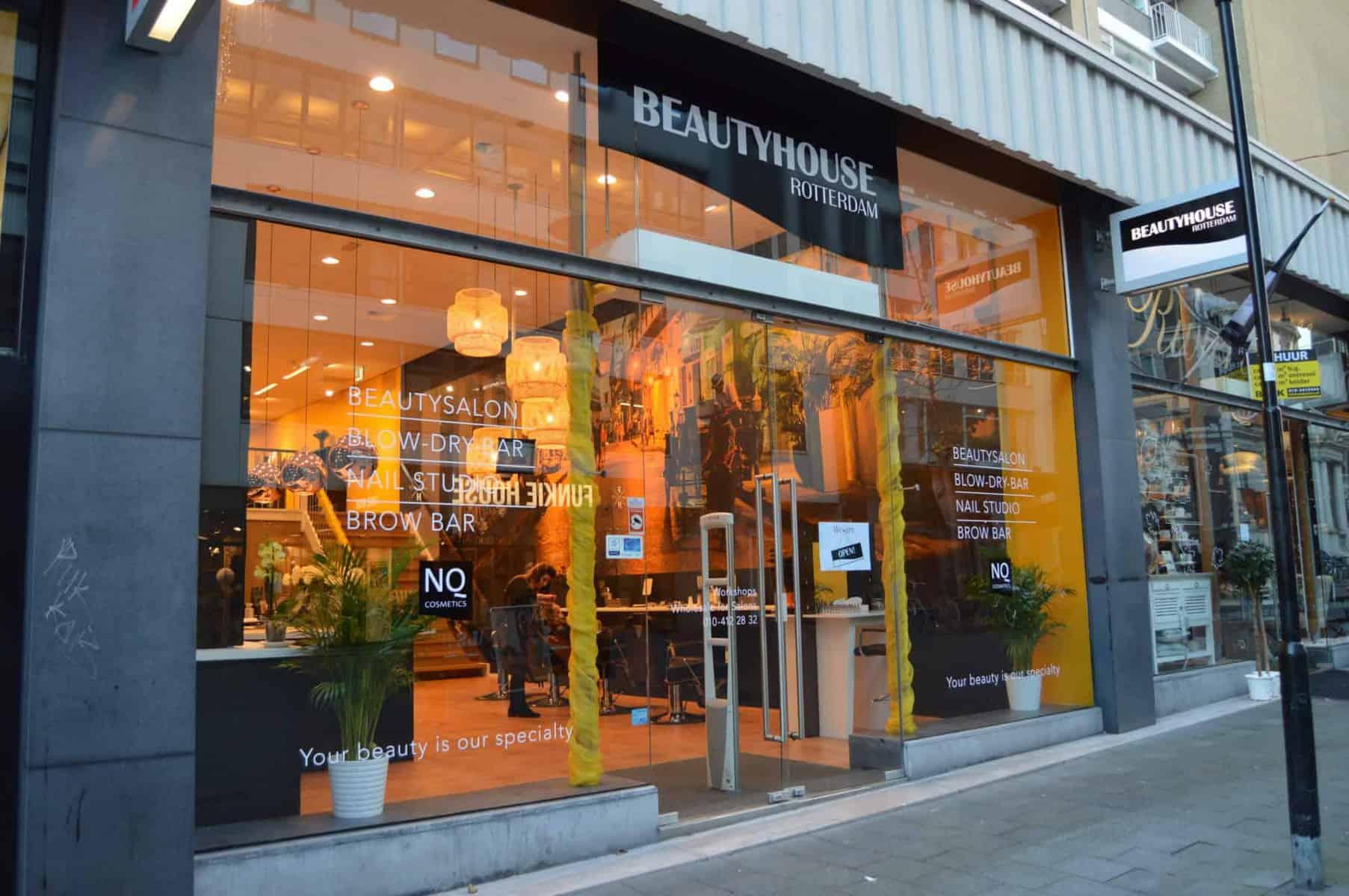 voorkant winkel Beautyhouse Rotterdam